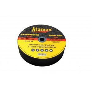 Круг зачисний по металу 230х6.0 Ataman