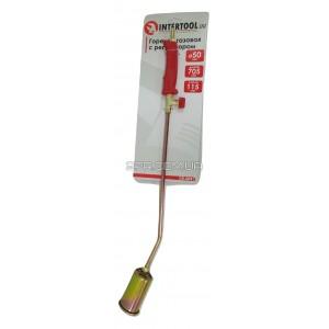 Газовий пальник з регулятором 705 мм, сопло 115 мм, діаметр 50 мм GB-0041 INTERTOOL |2PR