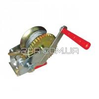 Лебідка важільна барабанна сталевий трос 450кг GT1454 INTERTOOL