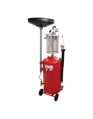 Установка вакуумна для зливання масла з передкамерою і воронкою, 90л. GT2100 INTERTOOL