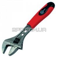 Ключ розвідний 200мм, двокомпонентна рукоятка HT-0196 INTERTOOL