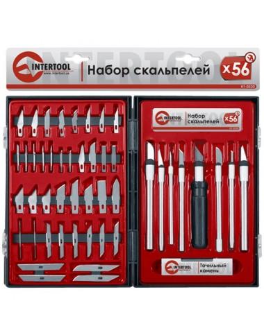 Набір скальпелів 56 од. в пластиковому футлярі HT-0530 INTERTOOL