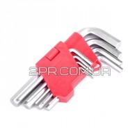 Набір ключів Г-подібних шестигранних 9 шт. HT-0601 INTERTOOL