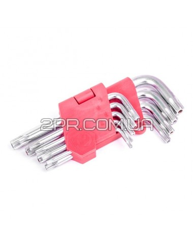 Набір ключів Г-подібних TORX 9 шт. HT-0604 INTERTOOL