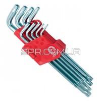 Набір ключів Г-подібних TORX з отвором 9 шт. HT-0606 INTERTOOL