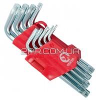 Набір Г-подібних ключів TORX 9шт, Т10-Т50, Cr-V, Small HT-0607 INTERTOOL
