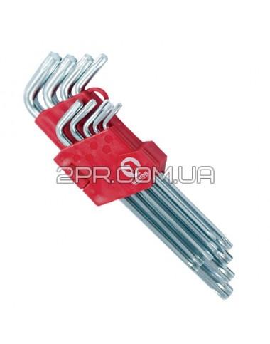 Набір Г-подібних ключів TORX 9шт, Т10-Т50, Cr-V, Big HT-0608 INTERTOOL