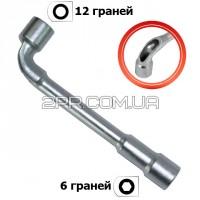 Ключ торцевий з отвором L-подібний 16мм HT-1616 INTERTOOL