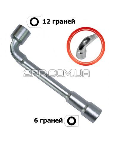 Ключ торцевий з отвором L-подібний 17мм HT-1617 INTERTOOL