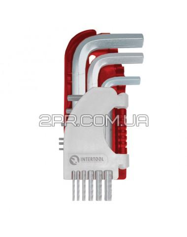 Набір Г-подібних ключів шестигранних 9шт., 1.5-10 мм, S2, PROF HT-1801 INTERTOOL