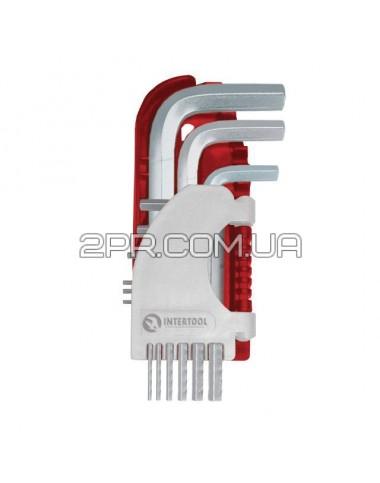 Набір Г-подібних ключів шестигранних 9шт., 1.5-10 мм, S2, PROF [HT-1803] HT-1803 INTERTOOL