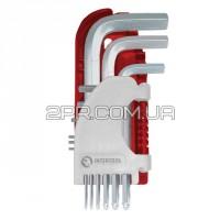 Набір Г-подібних ключів шестигранних 9шт. З кулястим наконечником, 1.5-10 мм, S2, PROF HT-1813 INTER
