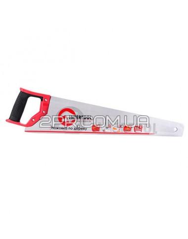 Ножівка по дереву з гартованим зубом 500мм, 55 HRC HT-3103 INTERTOOL