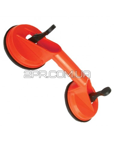 Тримач-присоска для скла подвійна 2*120мм, max 80кг HT-7102 INTERTOOL