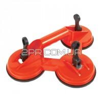 Тримач-присоска для скла потрійна 3*120мм, max 160кг HT-7103 INTERTOOL