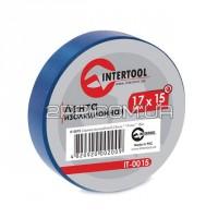 Стрічка ізоляційна 0.15mm*17mm*15m синя IT-0015 INTERTOOL