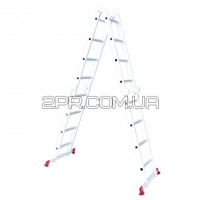 Драбина алюмінієва мультифункціональна трансформер 4*4 сходинок 4.75м LT-0029 INTERTOOL