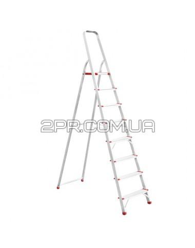 Стрем'янка алюмінієва 8 сходинок, висота до платформи 1720мм LT-1008 INTERTOOL