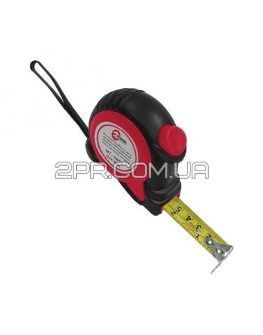 Рулетка 3м * 16мм з автоматичним блокуванням полотна, на зачепі полотна встановлені магніти MT-0803