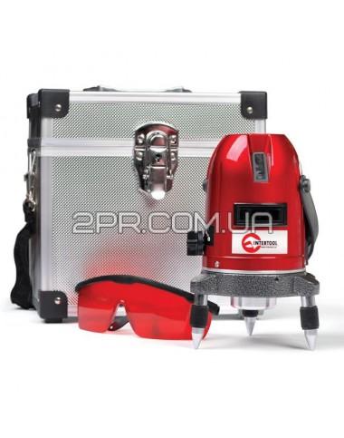 Рівень лазерний Профі. 5 лазерних головок, звукова індикація MT-3011 INTERTOOL