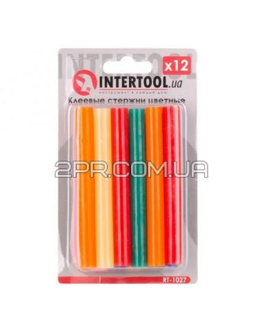 Комплект стержнів клейових кольорових 11,2 мм * 100 мм, 12 шт RT-1027 INTERTOOL