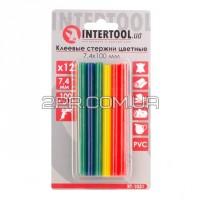 Комплект стержнів клейових кольорових 7,4 мм * 100 мм, 12 шт RT-1031 INTERTOOL