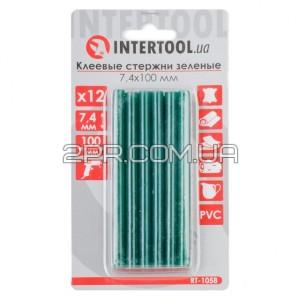 Комплект стержнів клейових зелених 7,4 мм * 100 мм, 12 шт RT-1058 INTERTOOL
