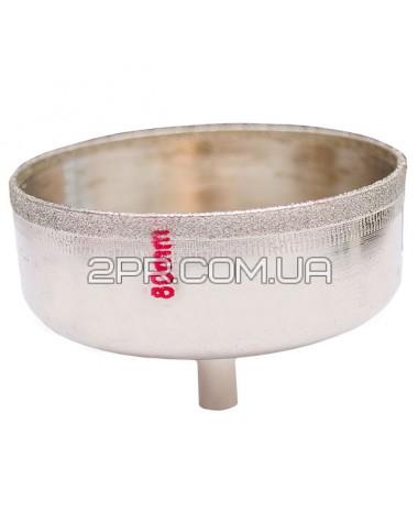 Коронка трубчаста по склу та кераміці 80 мм SD-0376 INTERTOOL