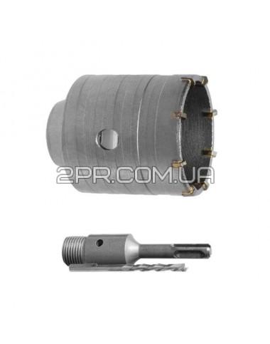 Комплект: свердло корончате по бетону 40мм+Перехідник SDS Plus 100мм SD-7040 INTERTOOL