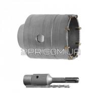 Комплект: свердл корончатих по бетону 120 мм + Перехідник SDS-plus 100 мм