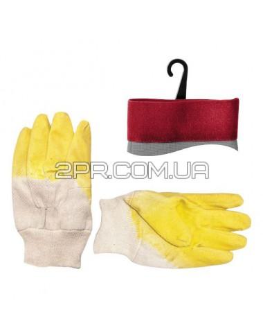 Рукавиці скляра тканинні (жовті) SP-0002