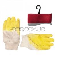 Рукавички скляра тканинні (жовті)(ящик 120 пар) SP-0002W INTERTOOL