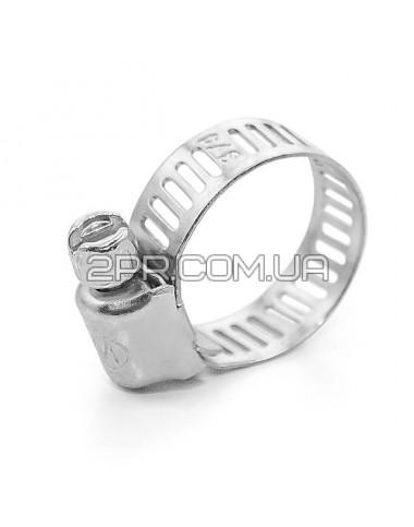 Хомут сталевий оцинкований 8 мм D 13-23 мм TC-0013 INTERTOOL