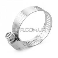 Хомут сталевий оцинкований 12,7 мм D 21-44 мм TC-0122 INTERTOOL
