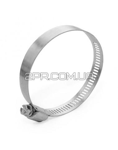 Хомут сталевий оцинкований 12,7 мм D 52-76 мм TC-0152 INTERTOOL