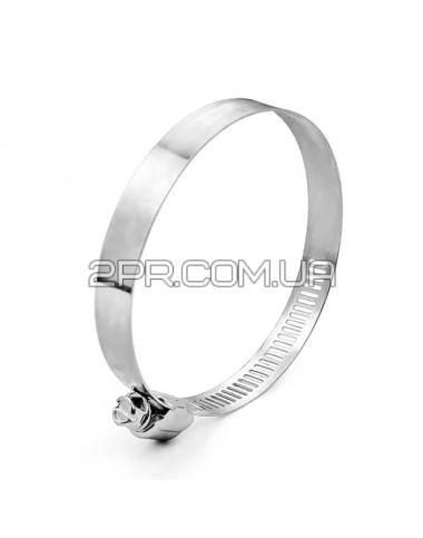 Хомут сталевий оцинкований 12,7 мм D 65-89 мм TC-0165 INTERTOOL