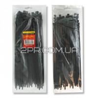 Хомут пластиковий 3,6x300мм, (100 шт/упак), чорний TC-3631 INTERTOOL