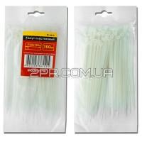 Хомут пластиковий 4,8x350мм, (100 шт/упак), білий TC-4835 INTERTOOL