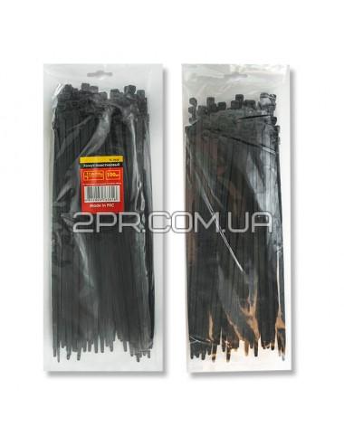 Хомут пластиковий 7,6x350мм, (100 шт/упак), чорний TC-7636 INTERTOOL