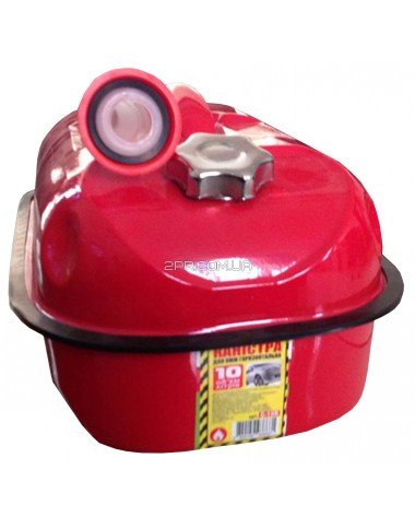 Каністра для ПММ ( Палив-Мастил матер) C-10R, горизонтальна, червона, 10 л