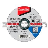 Відрізний диск по металу 115х2,5 30R, плаский Makita