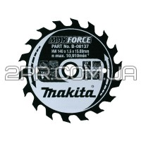 Пиляльний диск Т.С.Т. MAKForce 140x15,88 мм 18Т Makita