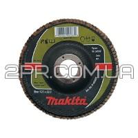 Пелюстковий шліфувальний диск 115х22,23 К60, карбід кремнію Makita