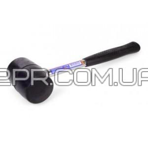 Резиновий молоток металева ручка 450 г (чорна рез.) Miol