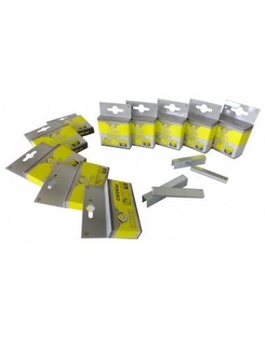 Скоби гартовані для степлера будівельного 10x10.6мм 1000шт. Т50 Сталь