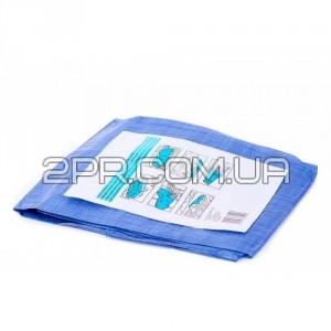 Тент синій тарпауліновий 5х8 фото - інтернет-магазин 2PR