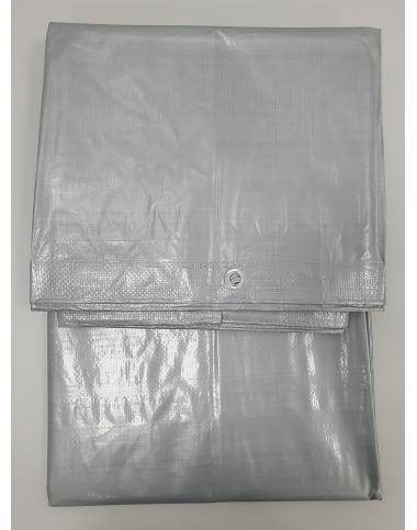 Тент сірий тарпауліновий 5х6 фото - 2PR інтернет-магазин інструментів